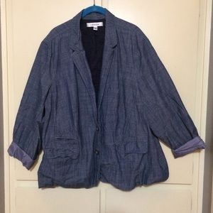 💙NWOT Croft & Barrow 3X Denim Style Blazer💙